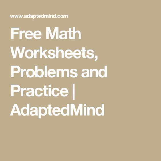 adaptedmind math worksheets Brandonbriceus – Adaptedmind Math Worksheets