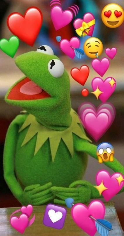 Kermit Love Hearts : kermit, hearts