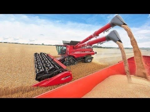Amazing Modern Rice Harvesting Machines 2017 Amazing New Technology Harvest Equipment Youtube Modern Agriculture Big Tractors Tractors