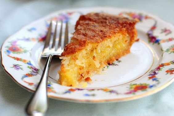 French Coconut Pie: