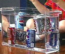 Soda sink or float. Have kids predict whether sodas will sink or float. Most will assume they will all act the same but they won't! Diet pop floats and regular sinks. Nice way to touch on sugar content too :)