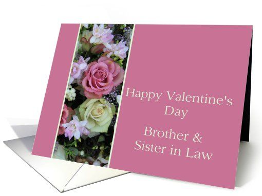 Brother U0026 Sister In Law Happy Valentineu0027s Day Pink And White Roses Card |  My Greeting Card Universe | Pinterest | Brother Sister, Collections  Photography ...