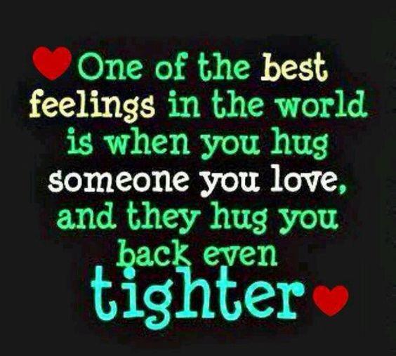 Hugged tighter