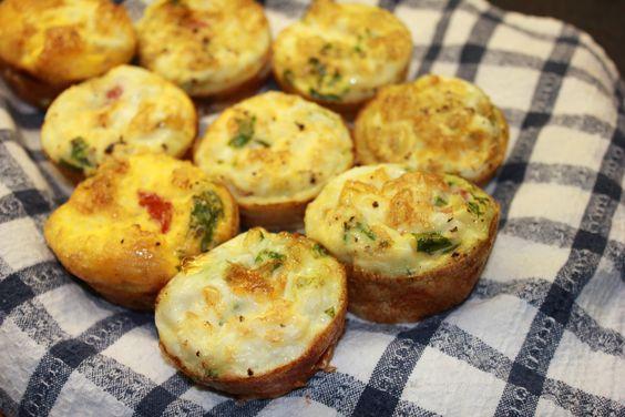 Frittatas- veggies, eggs, quinoa
