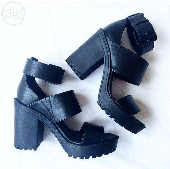 View H&M Black Wedge Heels for sale in Parañaque on OLX ...