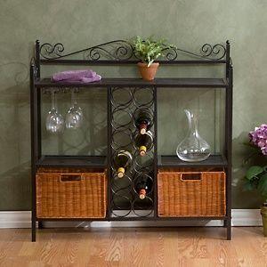 """""""Celtic"""" Baker's Rack with Wine Storage at HSN.com"""