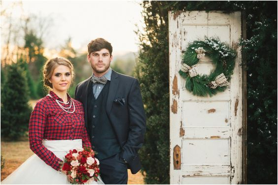 Country Winter Wedding Ideas | by JoPhoto | styled by The Bride Link and Custom Love Gifts