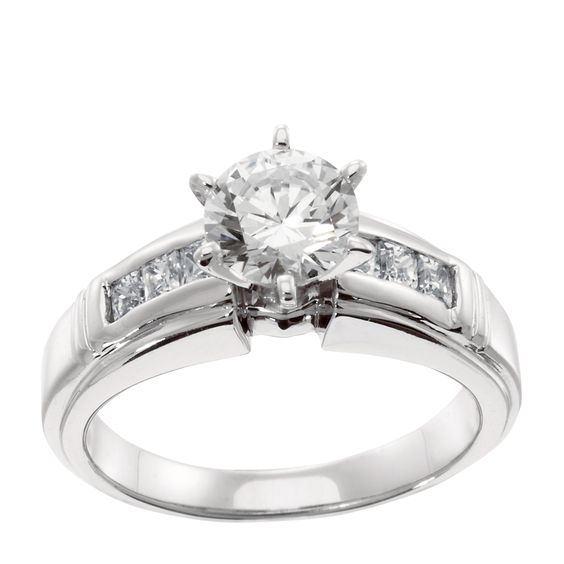 14K Yellow Gold 2.01 cts Princess Cut Lab Created Engagement Ring $1519