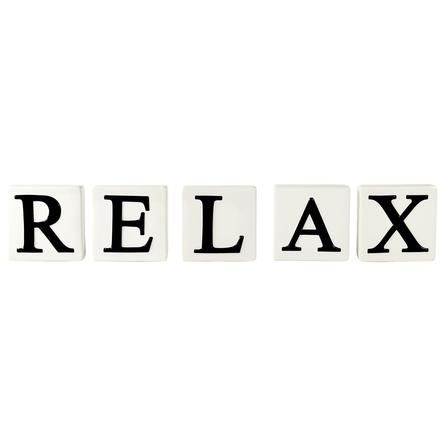 relax letter blocks dunelm mill home With relax letters
