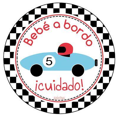 Pegatinas de Bebe a Bordo originales y modernas de www.nicolasito.es