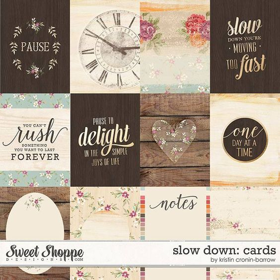FREE Slow Down Cards by Kristin Cronin-Barrow Designs