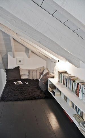 Área de leitura, muito linda e confortável!