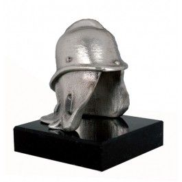 Trophäe Feuerwehrhelm -  Werkstoff:Metallguss -  Oberfläche:Berliner Bronze Art -  Sockel:Ader Marmor -  Höhe:16 cm - 43384B -  EUR 68.10
