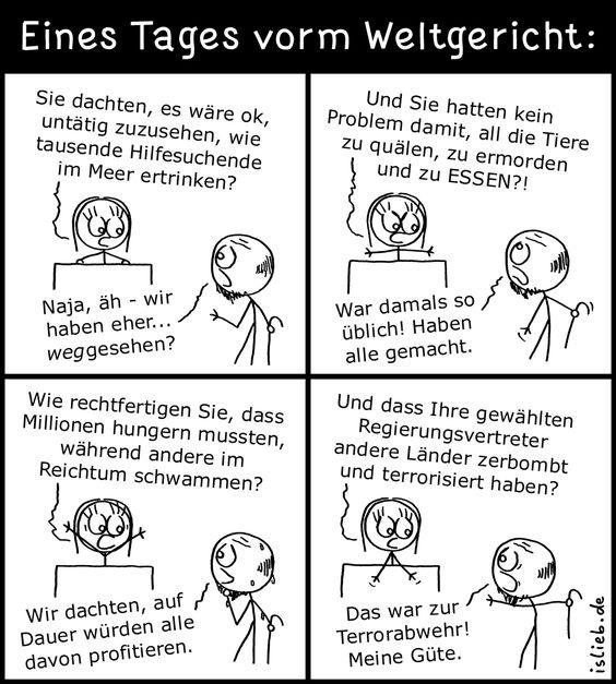 Weltgericht | #moral #ethik #menschheit #comic #islieb