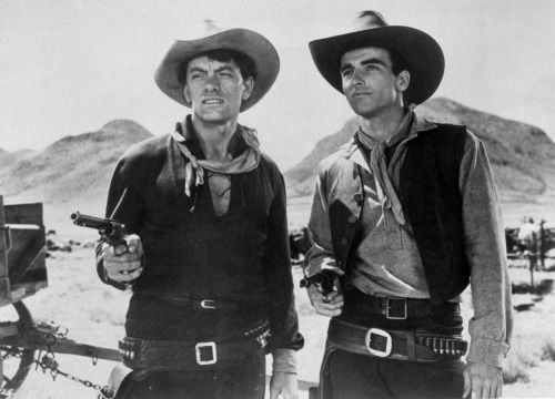 "John Ireland & Montgomery Clift in ""Red River"" (Howard Hawks)"