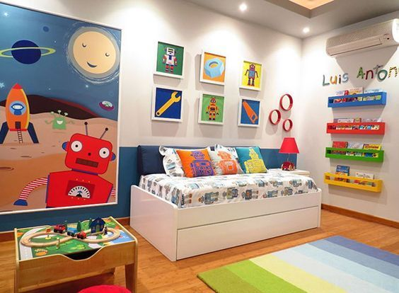 Boys Bedroom Ideas For Small Rooms Boy Toddler Bedroom Robot