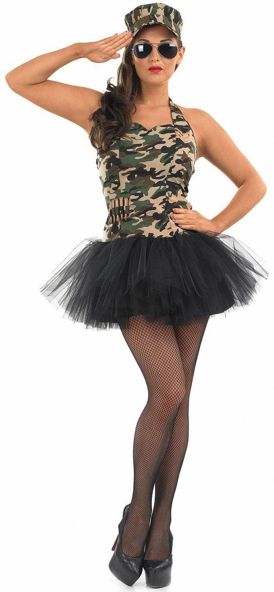 Disfraz de soldado sexy para mujer. Disponible en www.vegaoo.es