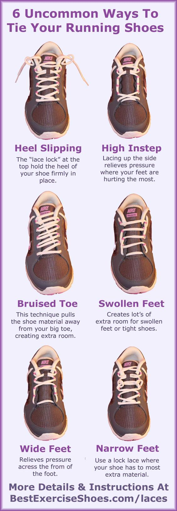 6 Different Way To Tie Your Workout Shoes