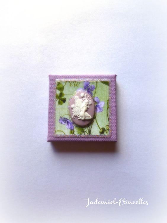 """♥ Fête des mères ♥ Mini toile décorative """" Songes de fleurs """" n°49 : Accessoires de maison par jademiel-etincelles"""