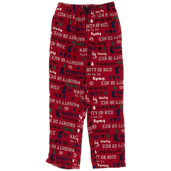 Red Naughty or Nice Pajama Pants for Men