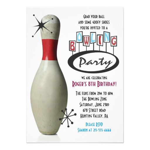 Bowling Party Birthday Invitations for awesome invitations design