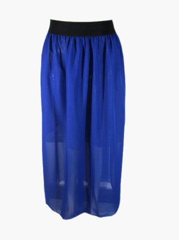 #oBaz                     #Skirt                    #Blue #Chiffon #Skirt     Blue Chiffon Skirt                                  http://www.seapai.com/product.aspx?PID=102400