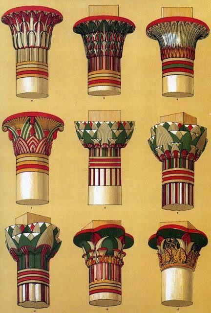 Egyptian Column Styles