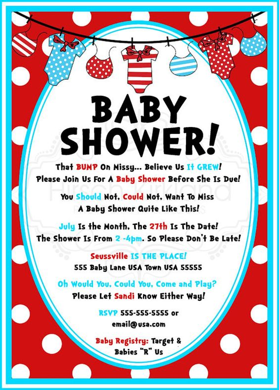 So Cute Dr Seuss Baby Shower Invitation By