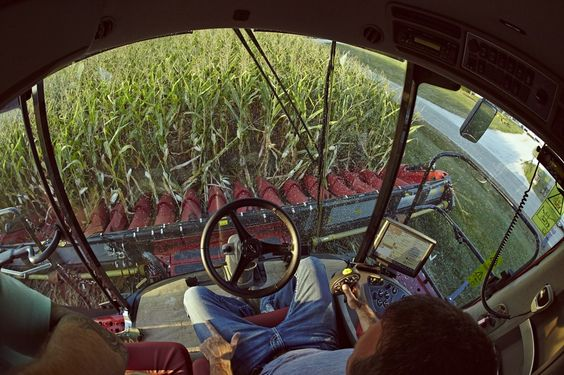 View from the tractor seat. (Martin farm - Indiana) #americasfarmers #beginswithafarmer