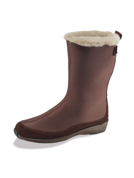 pictures of mid calf boots | ... Shoes Women's Orthopedic Footwear Boots Aetrex Furry Mid-Calf Boots