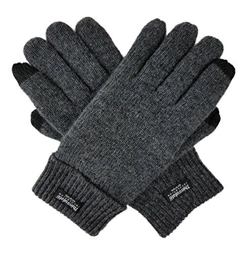 Bruceriver Men S Pure Wool Knitted Touchscreen Gloves Wit Https Www Amazon Com Dp B01n64ft9a Ref Cm Sw R Pi Dp U Knitted Gloves Wool Gloves Pure Products