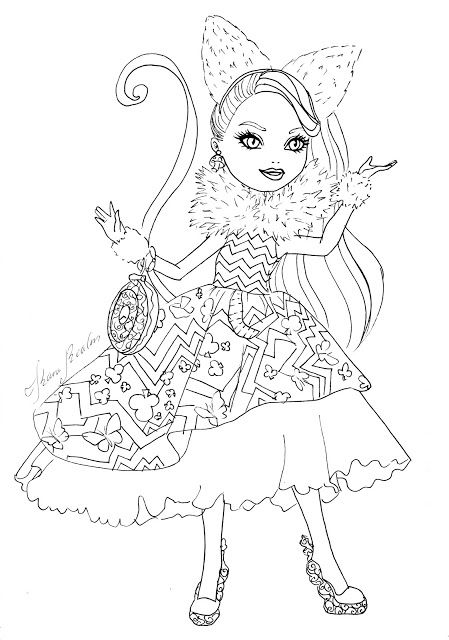 coloring pages ever after high - kara realm ever after high coloring pages femme
