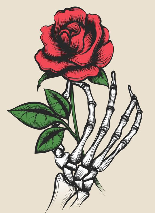 Pin By Alexis Nichole On Phora 3 Skull Rose Tattoos Skeleton