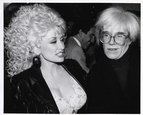 Andy Warhol and Dolly Parton, circa 1980s    The Andy Warhol Museum, Pittsburgh; Founding Collection, Contribution The Andy Warhol Foundation for the Visual Arts, Inc.