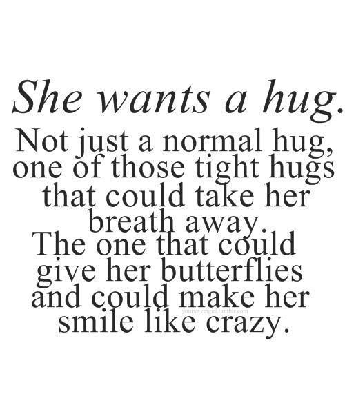 Keep remembering that hug before I went on leave. Made me think more of something that's always been 'nothing'