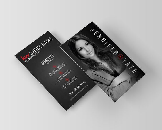 Vertical Keller Williams Business Card Design for 2015