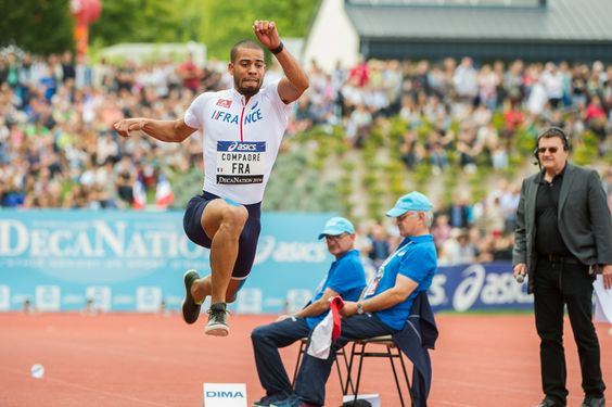 #Angers Avec un bond à 17,12m, Benjamin Compaoré s'adjuge facilement le concours du triple saut. #decanantion