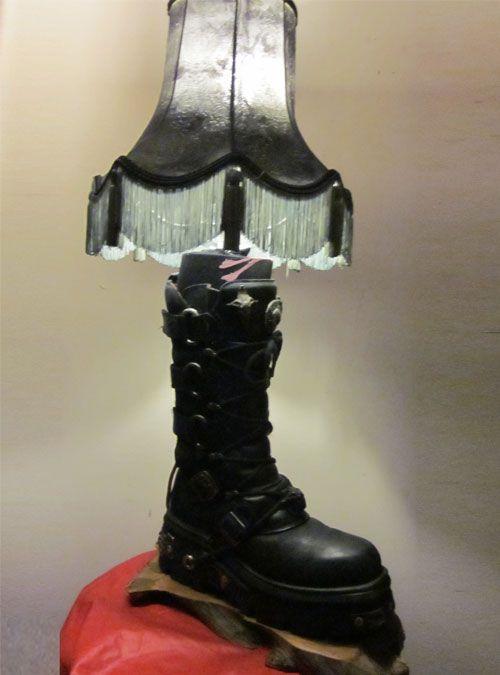 Strange Handmade Goth Style Boot Lamp Lamp Novelty Lamp Strange