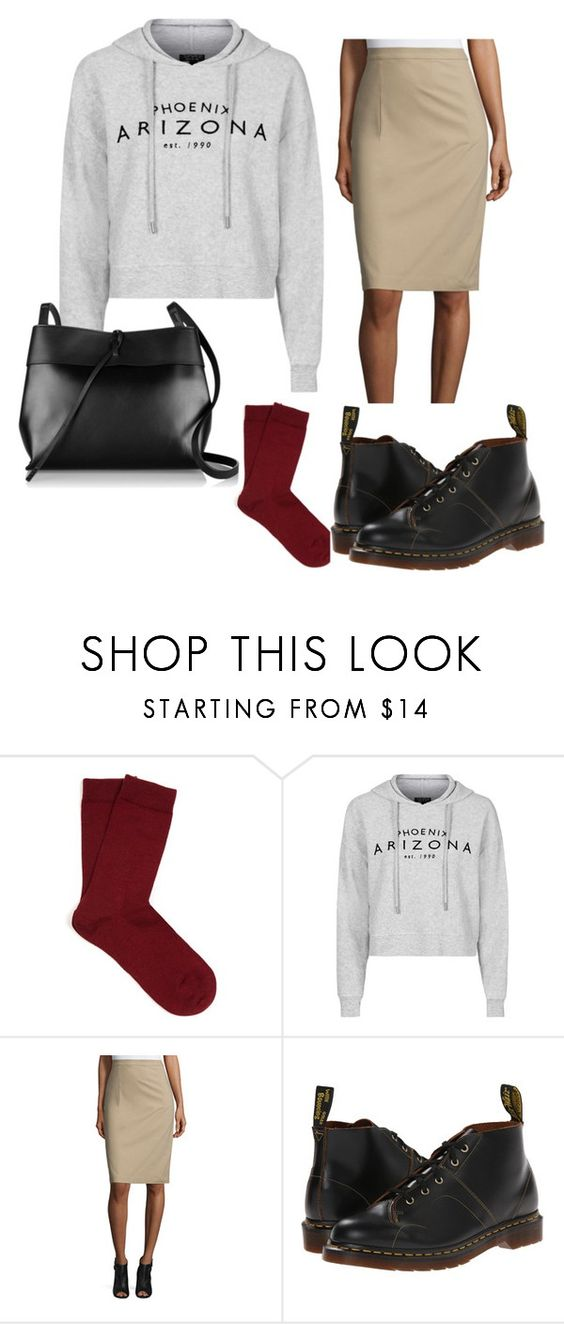 #9 by nabjae on Polyvore featuring Topshop, Theory, Falke, Dr. Martens and Kara