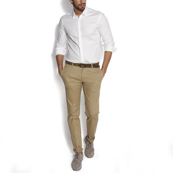 Chino slim Beige homme – la mode homme sur Jules.com