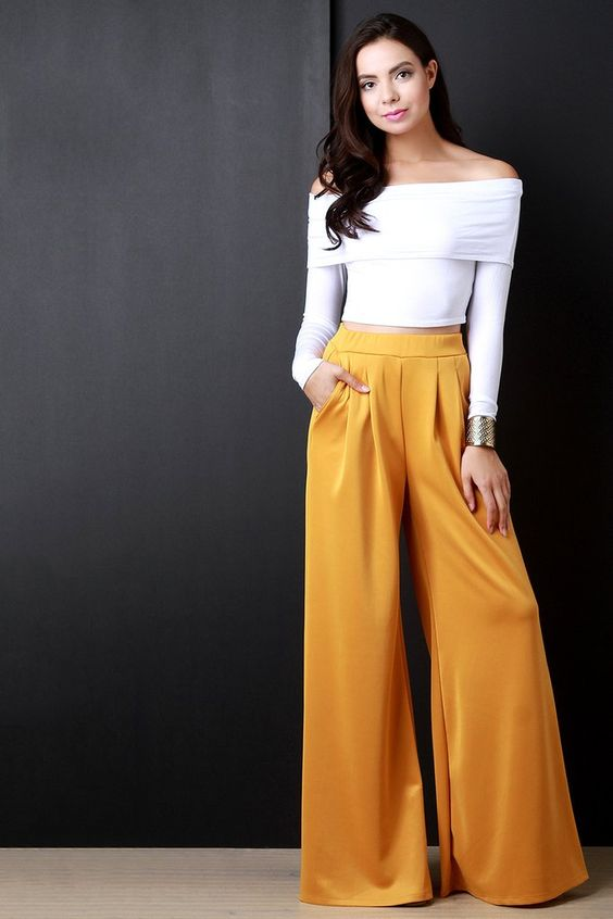 Pleated Wide Leg Pocketed Loose Pants                                                                                                                                                                                 More