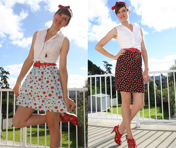 Two cherry skirts! cute pin-up girl style.