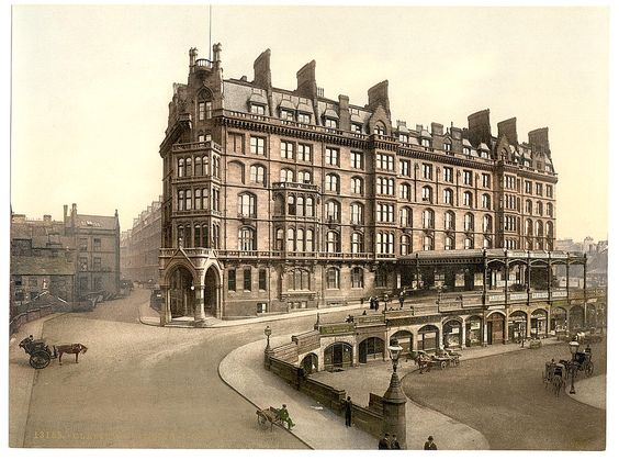 Glasgow, St Enoch's Station 1890's. Sadly no longer used as a railway station.