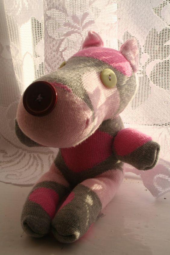 Spotty Sock Dog/Hippo