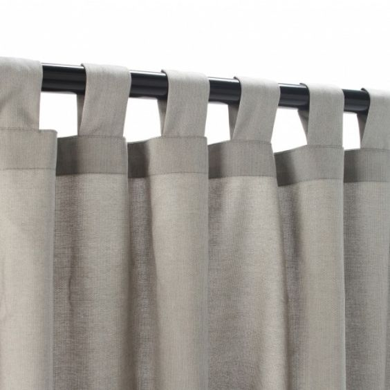 Door Curtains all weather outdoor curtains : Light Dove Grey Outdoor Tab Top Curtain Panel - Love the color ...