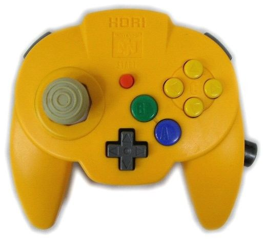 Yellow Hori Mini Pad N64 Controller