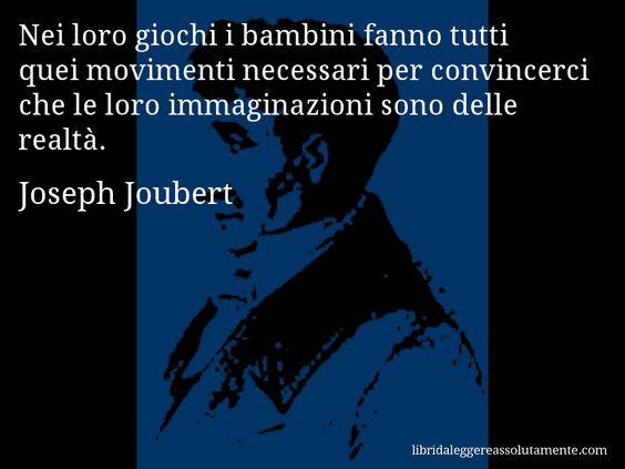 Cartolina con aforisma di Joseph Joubert.