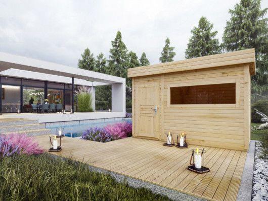 Sauna D Exterieur 4 6 Places Hervor 2 Pieces L366 X P204 X H210 Cm En 2020 Decoration Exterieur Exterieur Et Sauna
