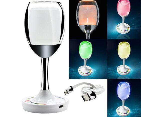 LED Wine Cup Table Lamp - #Gadgets #Tech | CoolShitiBuy.com