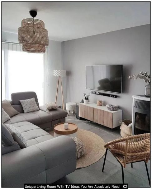 Unique Living Room With Tv Ideas You Are Absolutely Need 02 In 2020 Cozy Living Rooms Living Room Decor Modern Living Room Leather